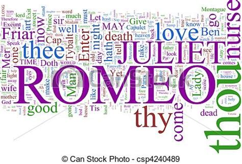 Stock Photographs Of Word Cloud  Romeo And Juliet A