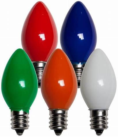 C7 Opaque Bulbs Christmas Lights Bulb Multicolor