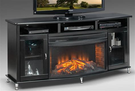 tv stands with fireplaces black corner electric fireplace tv stand doherty house