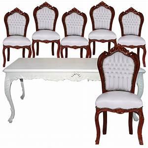 Esstisch Und Stühle : esstisch 6 st hle barock esszimmer m bel set mahagoni ~ Lizthompson.info Haus und Dekorationen