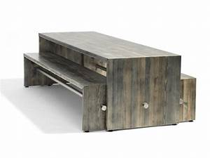 ping pong bench by bla station design johan lindau With maison rondin bois prix 19 tables