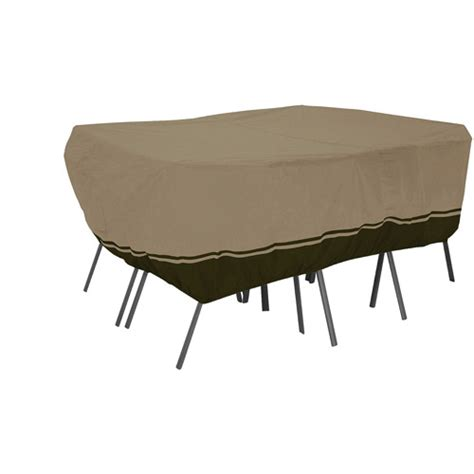 walmart patio table cover classic accessories villa patio rectangular oval table and