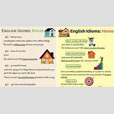 Common Idioms About The House And Home In English  Eslbuzz Learning English