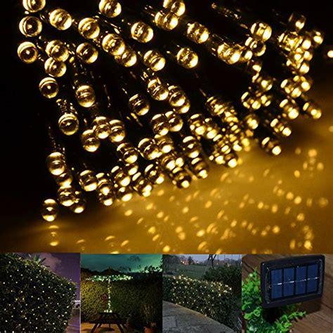 inst solar powered led string light ambiance lighting 65ft