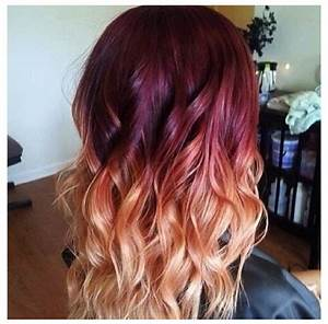 Burgundy To Blonde Ombre I Like The Pink Hues Hair