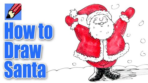best drawi g of santa clause with chrisamas tree how to draw santa real easy