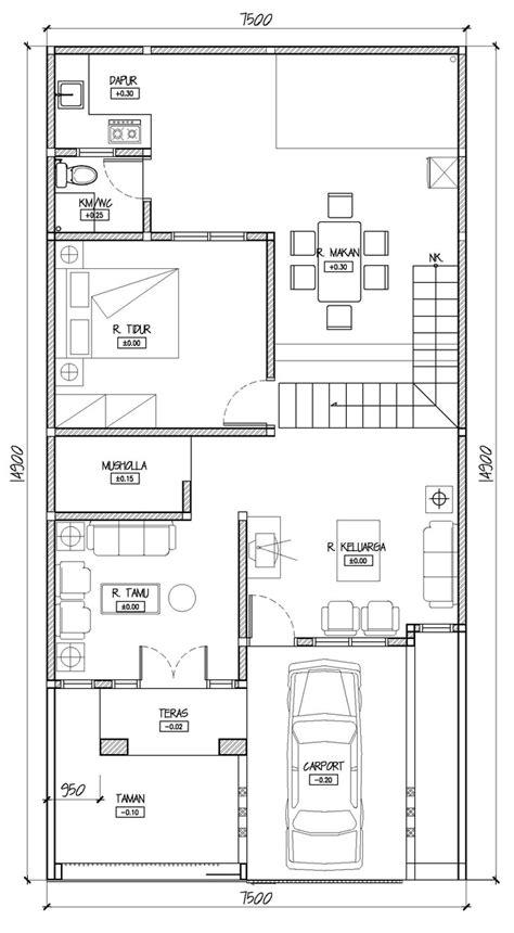 desain rumah minimalis memanjang  samping kumpulan