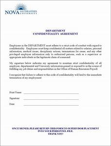 Human resources confidentiality agreement templates for Human resource forms and templates