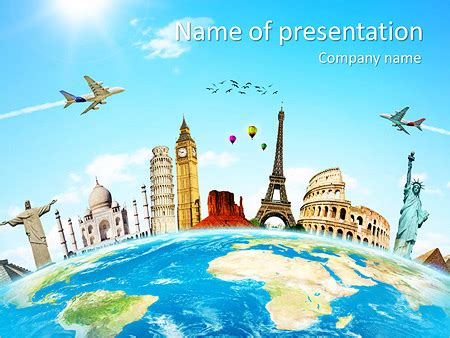 travel  powerpoint template backgrounds id