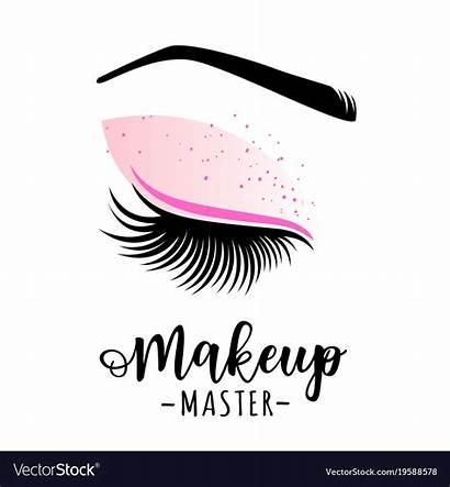 Makeup Vector Beauty Master Maker Illustration Lashes