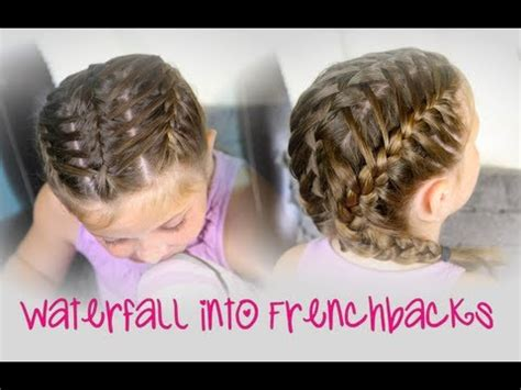 waterfall  double frenchbacks sport hairstyles youtube