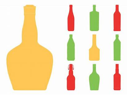 Bottle Silhouette Vector Silhouettes Wine Beer Clipart