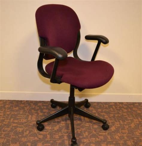 herman miller equa burgundy operators chair