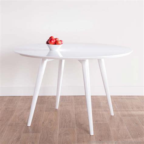 table ronde blanche laqu 233 e