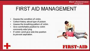 First Aid Care In Case Of Poisoning  Management Of