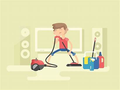 Cleaning Animation Equipment Clean Machine Illustration Examples