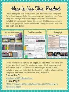 editable teaching portfolio template blueyellow by mrs With teaching portfolio template free