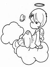 Angel Coloring Pages Little Cute Angels Printable Print Christmas Getcoloringpages Am sketch template