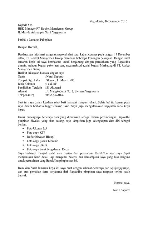 contoh surat lamaran kerja resume dreambegins