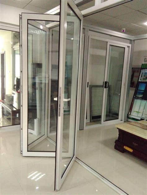 windows and doors parts aluminium bi fold glass door glass