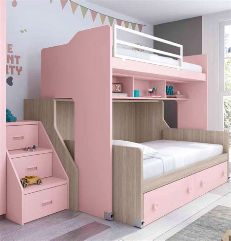 lit avec bureau coulissant lit superposé fille coulissant et pratique glicerio so