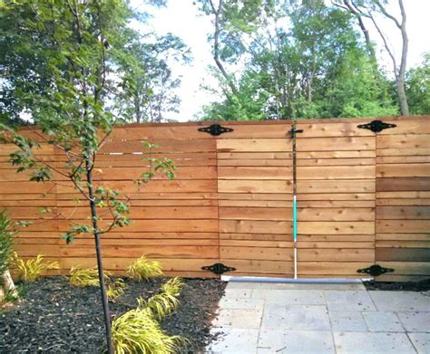 Horizontal Privacy Fence Horizontal Fence Ideas Stunning