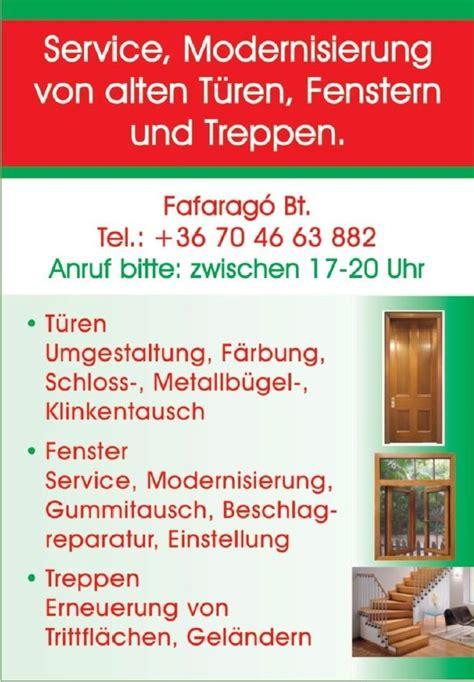 Service, Modernisierung Von Alten Türen