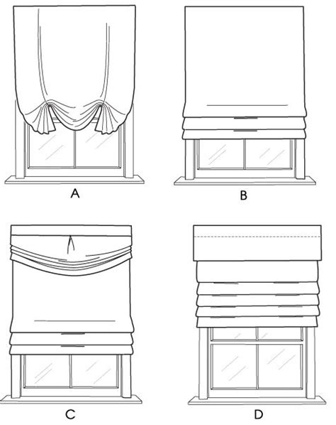 faux roman shade line drawing - Google Search | windows
