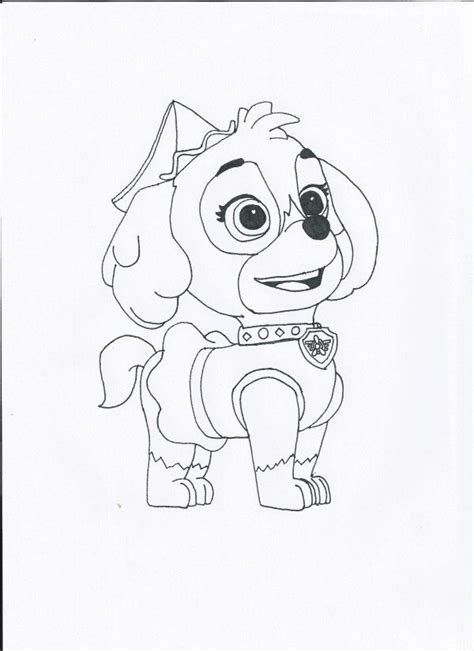 Skye Paw Patrol Coloring Page Coloring Home