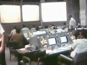 Recovery Control Room at Mission Control Center During ...