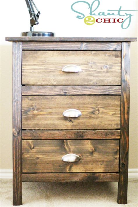 reclaimed wood nightstands shanty  chic