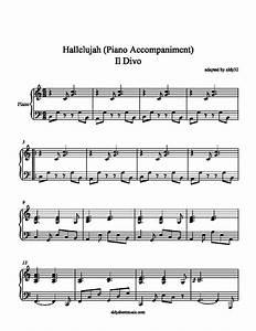 Hallelujah Piano Sheet Music Free