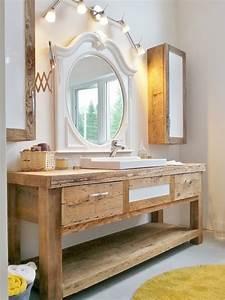 vanite rustique salle de bain With salle de bain rustique