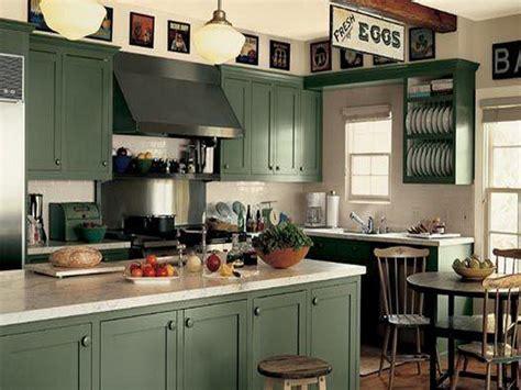 Kitchen  Dark Green Kitchen Cabinets Painting Green