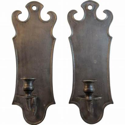 Wall Candle Pewter Sconces Holders Italian