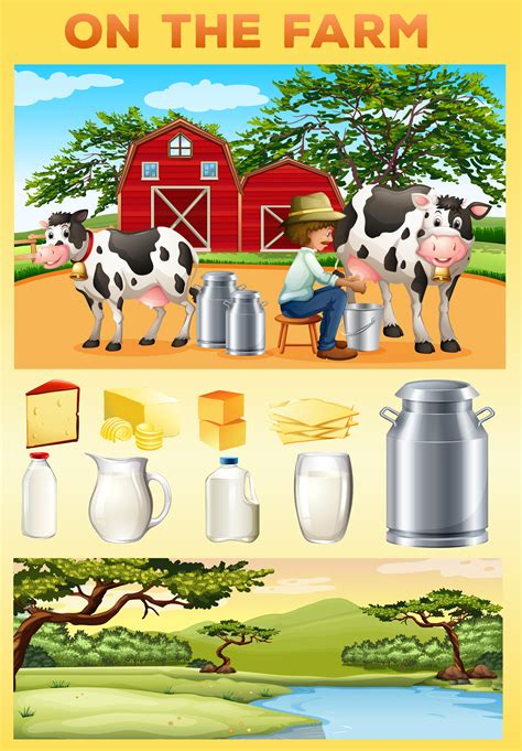 farm theme  farmer  dairy products