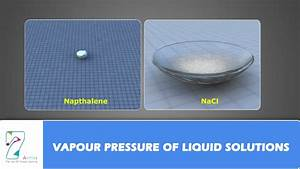 Vapour Pressure Of Liquid Solutions
