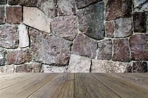 Texture Terrasse Bois : terrasse en bois et mur en pierre image stock image du ~ Melissatoandfro.com Idées de Décoration