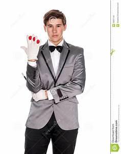 A Magician Holding A Magic Wand And Balls Stock Photos ...