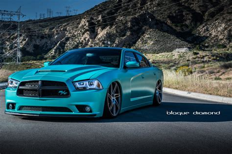 modded cars wallpaper dodge charger rt blue daytona modified cars tuning wheels