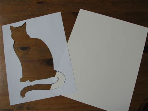 cat sponge opedia tape tack lightly onto empty low paper place card