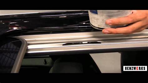 benzwerks sunroof lubrication  maintenance youtube