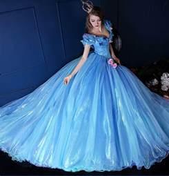 robes de mariã e princesse robes élégantes robe de bal princesse bleu