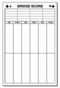 bridge score cards template 28 images free bridge With bridge tally template