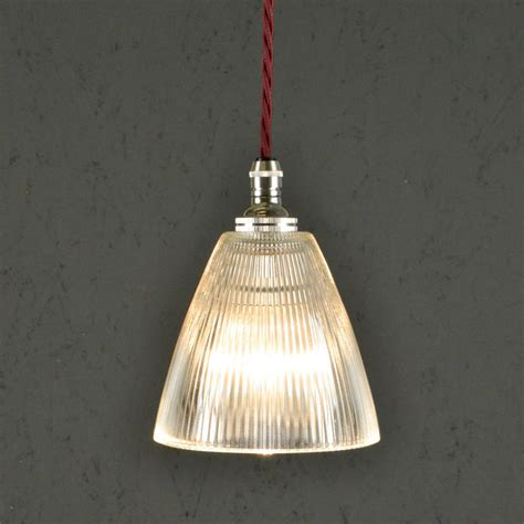 vintage style prismatic railway pendant light micro by
