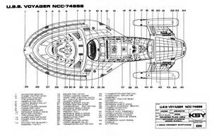 trek blueprints intrepid class starship u s s voyager ncc 74656
