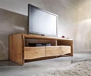 Tv Lowboard Mit Tv Halterung : lowboard live edge 145 cm akazie natur fach 3 sch be m bel ~ Michelbontemps.com Haus und Dekorationen