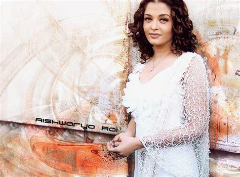 aishwarya rai standing  white dress hd wallpapers