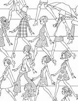 Coloring Pages Fashioned Hipster Printable Books Adult Sheets Colouring Print Getcolorings Tumblr Getdrawings Victorian Colorings Collection Clothing Discover sketch template