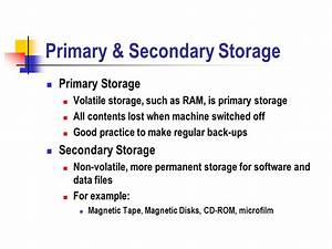 Examples Of Primary And Secondary Storage Devices | Best ...